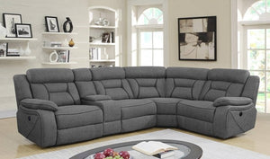 Samuel Grey Sectional Recliner