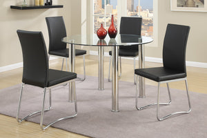 Cali Black 5PC Dining Set