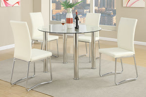 Cali White 5PC Dining Set