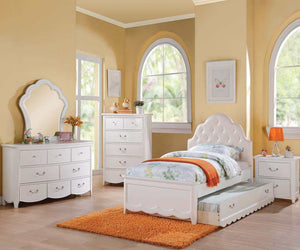 Celine White Bed - Full Size Available!