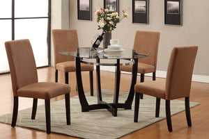 Cindy Saddle 5PC Dining Set