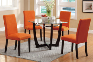 Cindy Orange 5PC Dining Set