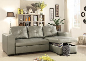 Carlos Silver Convertible/Storage Sectional