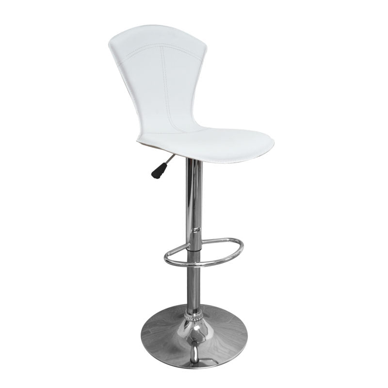 Betty Adjustable Bar Stool (Set of 2) White