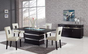 Edamon 5PC Dining Set - Mulicolor Chairs