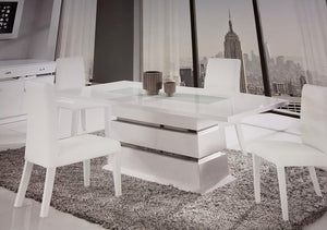 Edamon White 5 Piece DIning Set