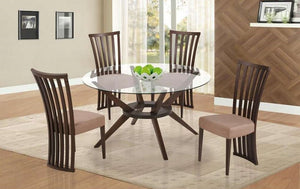 Clear Round 5PC Dining Set