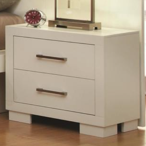 Candace in Crisp White Night Stand