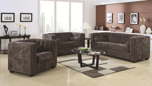 Courtly Charcoal Sofa