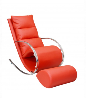 Ako Red Chair & Ottoman