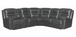 TOP GRAIN Leather Amanda Power Sectional