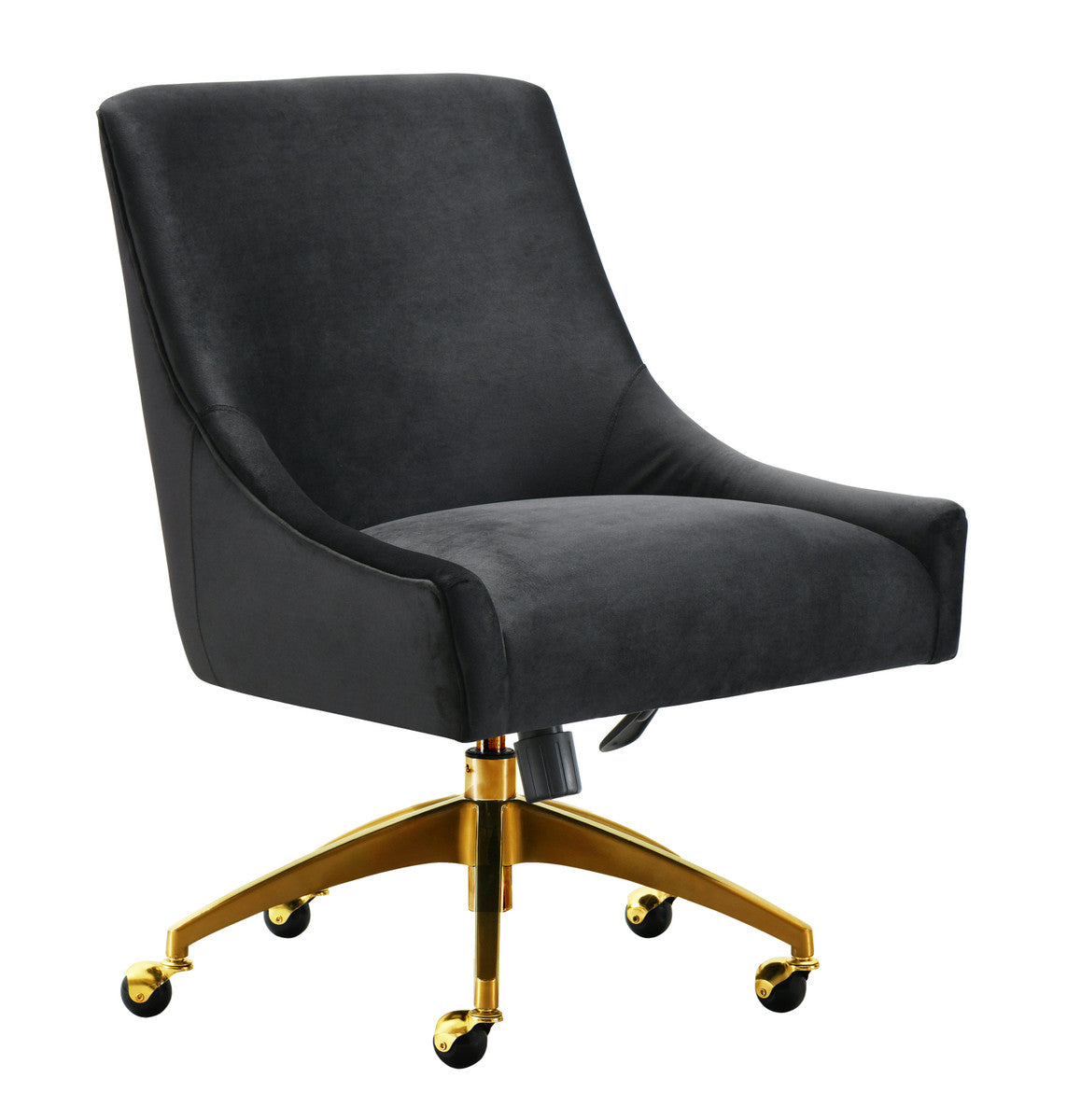Stewart Velvet Office Chair near desk