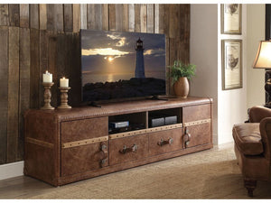 Abel Vintage Dark Brown Leather TV-Stand