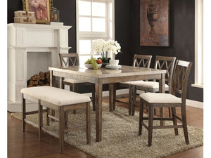 Aldrey Counter Height 6 Piece Dining Set