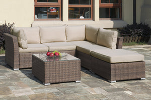 Almod Outdoor Sectional & Table Set