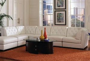 Alton White Sectional & Ottoman