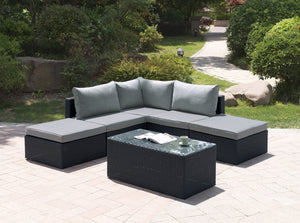 Amanda Outdoor Sectional & Table Set