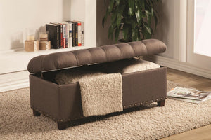 Ana Brown Accent Ottoman