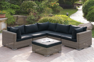 Bastian Outdoor Sectional & Ottoman Set