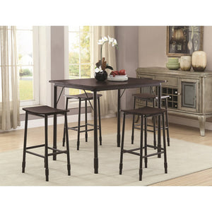 Black 5PC Counter Height Dining Set