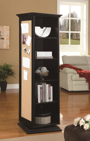 Black Swivel  Cabinet