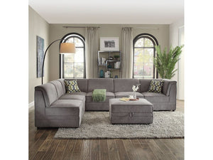 Boris Gray Velvet Sectional