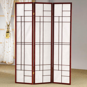 Brown Red Folding Screen