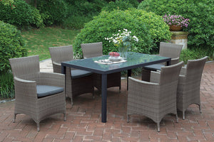 Bruno Beige 7PC Patio Dining Set