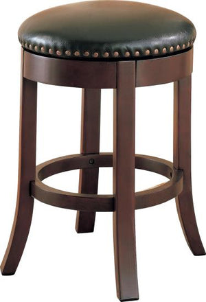 "Agatha  24"" Walnut Swivel Bar Stool"