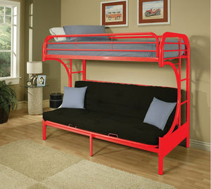 Carton Red Twin/Full Bunk Bed