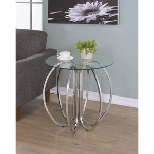 Cleo Chrome Accent Chair