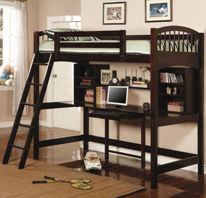 Costa Brown Workstation Bunk-Bed