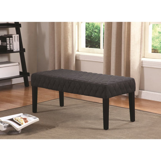 Dark Grey Accent Bench