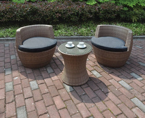 Elena Beige 3PC Outdoor Set