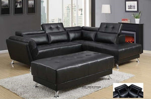 Adon Black Sectional