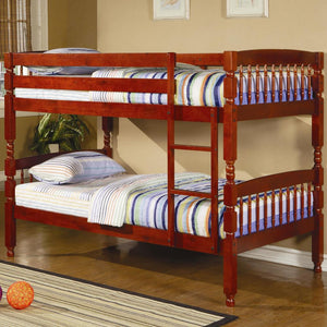 Coral Twin/Twin Cherry Bunk Bed