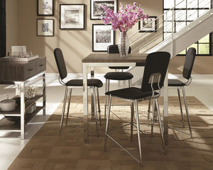 Chrome  Counter Height 5PC DIning Set