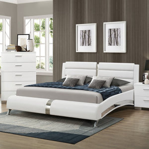Jeslyn White Collection bed