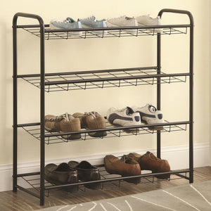 Black Metal Shoe Storage