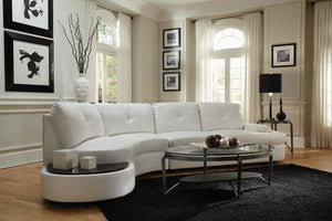 Artsy White Sectional