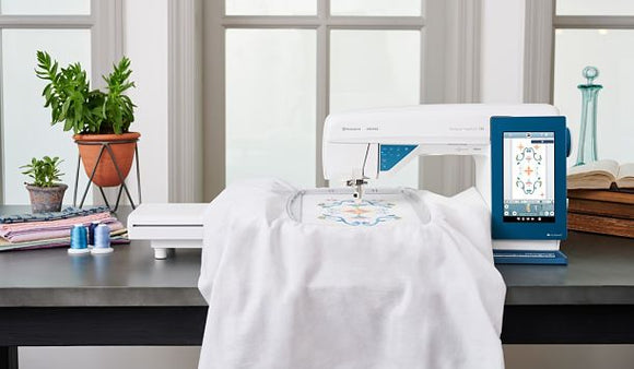 Husqvarna Viking DESIGNER SAPPHIRE 85 Sewing/Embroidery/Quilting Machine Combo