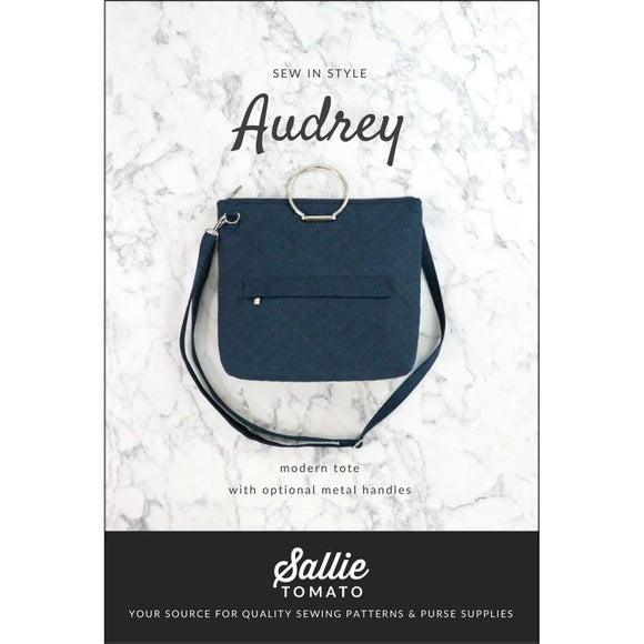 Audry Modern Tote with Optional Metal