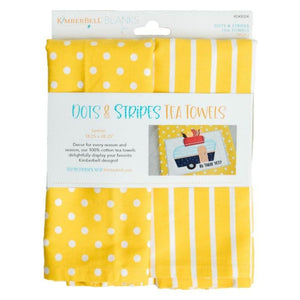 Dots & Stripes Tea Towels - Lemon