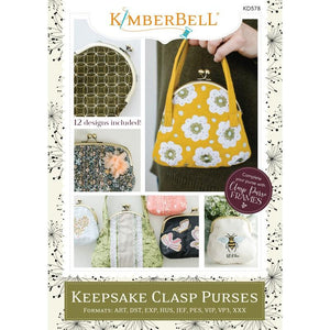 Keepsake Clasp Purses - Embroidery CD