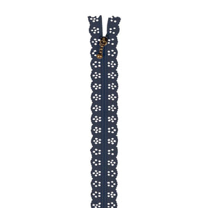 Kimberbell Lace Zipper 14in Navy
