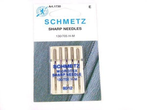 Schmetz Microtex Needles Size 80/12