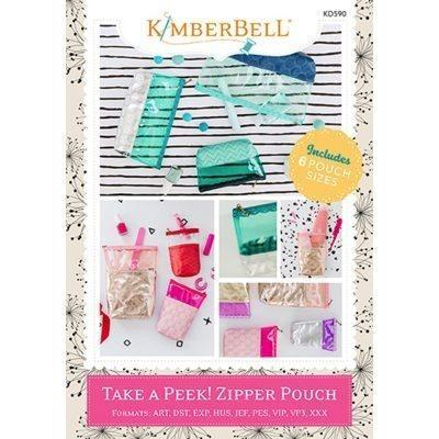 Kimberbell TAKE A PEEK! Zipper Pouch