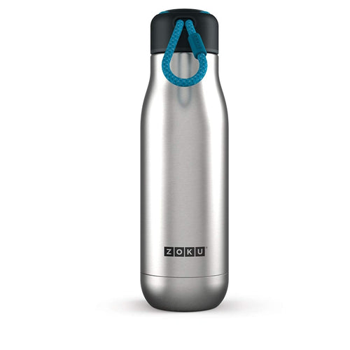 Zoku Vacuum Insulated Stainless Steel Bottle, 350ML, Silver