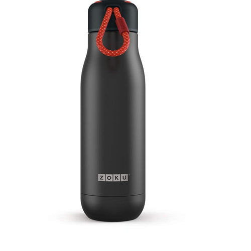 Zoku Vacuum Insulated Stainless Steel Bottle, 350ML, Black