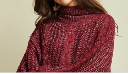 Burgandy Chunky Sweater